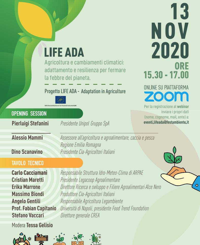 Life ADA – adattarsi in agricoltura