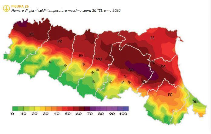Com'è stato il clima del 2020 in Emilia-Romagna